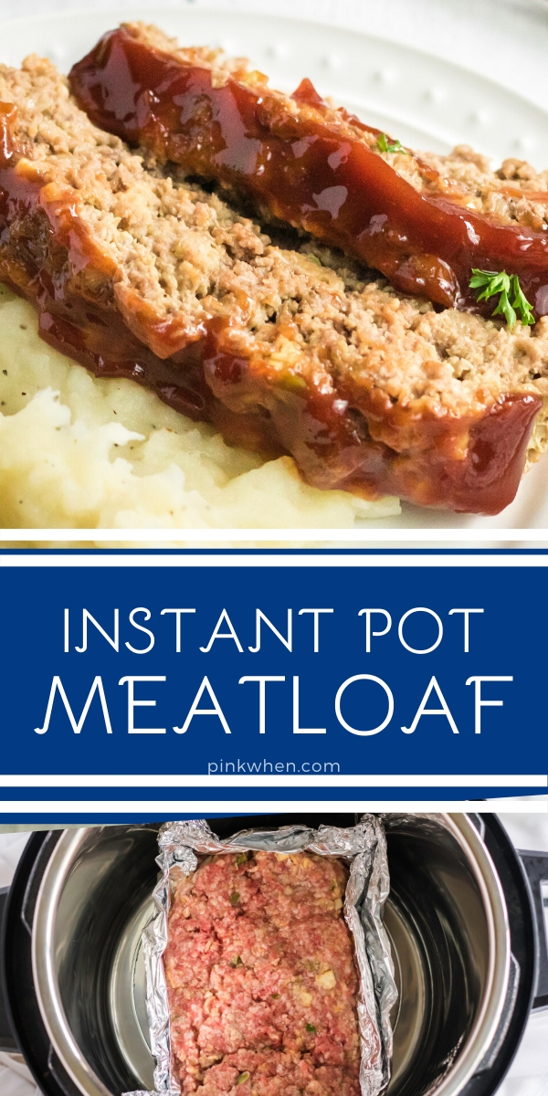 Instant Pot Meatloaf made in the pressure cooker is one of my favorite ways to make dinner. Made with ground beef, ketchup, Worcestershire sauce, brown sugar, and more. It's the perfect Instant Pot dinner recipe that's made in just under 30 minutes.