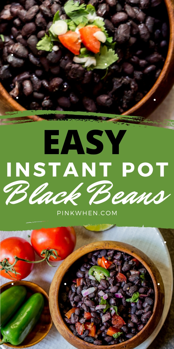 These easy Instant Pot Black Beans are delicious, easy, and require no soaking! You won't believe how easy these are to make, and cooked in just minutes.