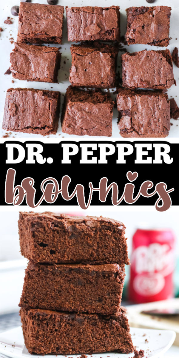 These Dr. Pepper Brownies are about to give your taste buds a true treat. Not only are they super moist and delicious, but they're literally made using a simple can of Dr. Pepper from your fridge. You will love how cake-like these brownies are with a delicious chocolatey flavor.