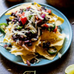 Instant Pot Black Bean Nachos ready to serve.