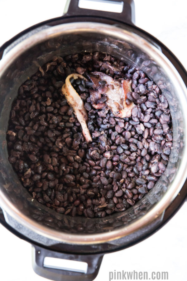 Black beans cooked in an Instant Pot