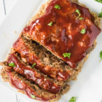 Instant Pot Meatloaf sliced and ready to serve.