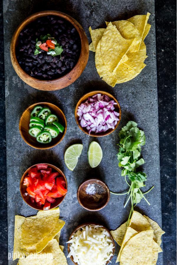 Ingredients needed for Instant Pot Nachos.
