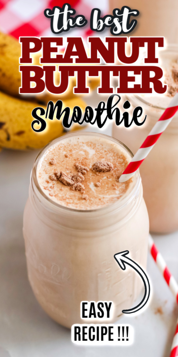This delicious peanut butter and banana smoothie is made with real bananas, protein powder, peanut butter, honey, and more! It's a delicious and filling breakfast recipe you're going to make over and over!