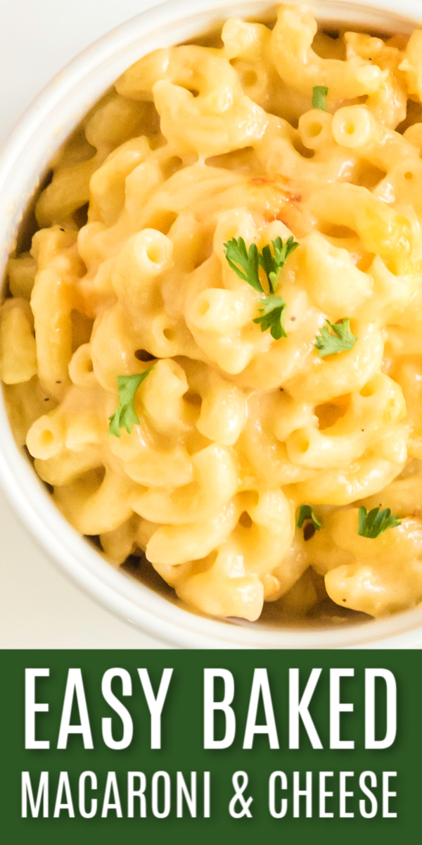 "Baked Macaroni and Cheese made with ""extra"" cheese is that creamy goodness that you've been craving. It's the perfect side dish to indulge on your own, or big enough to share with family."