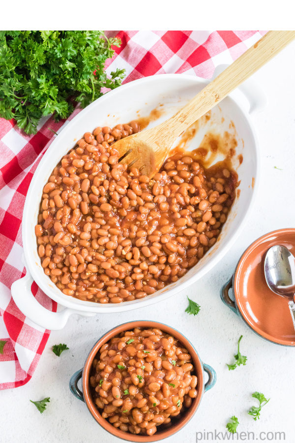The best baked beans recipe served and ready to eat.