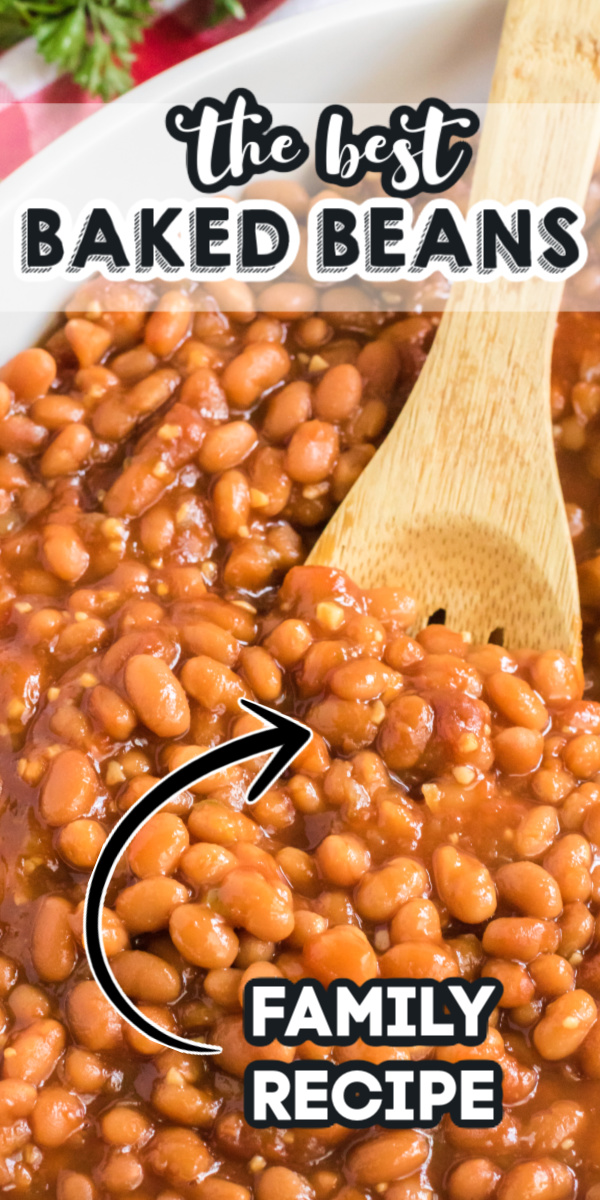 This tasty side dish is seriously the BEST. If you want a homemade baked beans recipe that stands out from the rest, this is it. Delicious homemade baked beans are seasoned with brown sugar, garlic, ketchup, onion, bell pepper, and more. It's the perfect flavor combination and one your guests will devour.