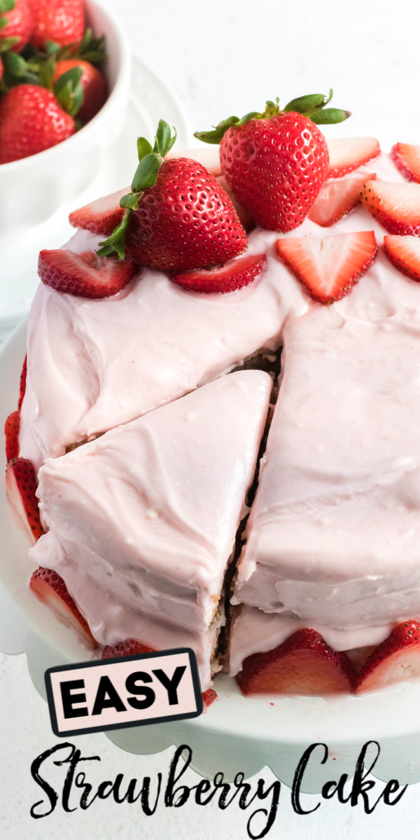 This delicious Strawberry Cake is made with fresh strawberries, strawberry reduction, homemade strawberry cream cheese frosting, and more. It's actually a lot simpler than it sounds! It's the perfect summertime strawberry dessert that will wow your friends and family alike.
