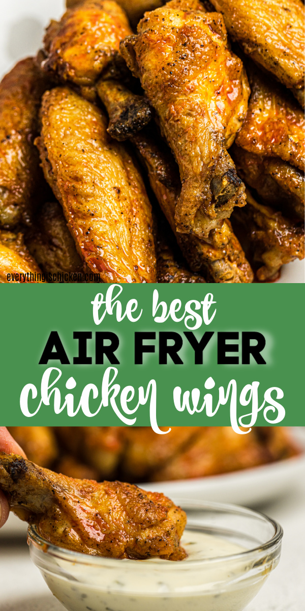 These Air Fryer Chicken wings are juicy, crispy, and full of flavor. Made with fresh chicken, the perfect blend of seasonings, a homemade buffalo sauce, and dipped in a creamy ranch dressing. You can't buy wings that taste anywhere close to these.