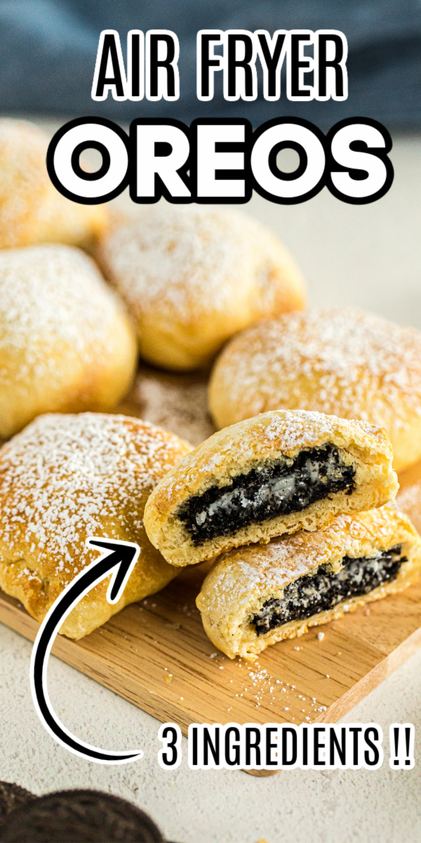 These delicious Air Fryer OREOs are made with just 3 ingredients and are done in less than 10 minutes! You won't believe how quick, easy, and delicious these are.