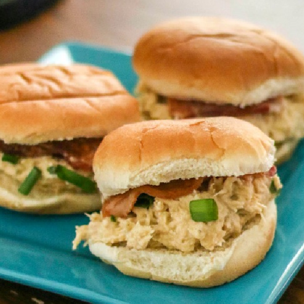 Instant Pot Crack Chicken on buns