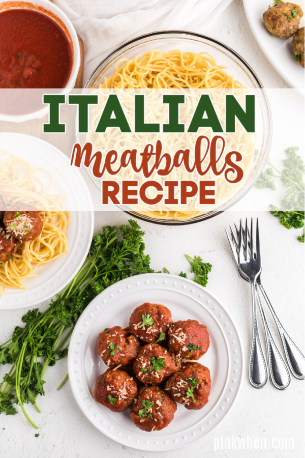Homemade Italian Meatballs on a plate.