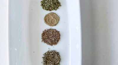 poultry seasoning on a plate