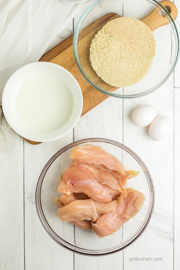 Ingredients for Air Fryer Chicken Strips