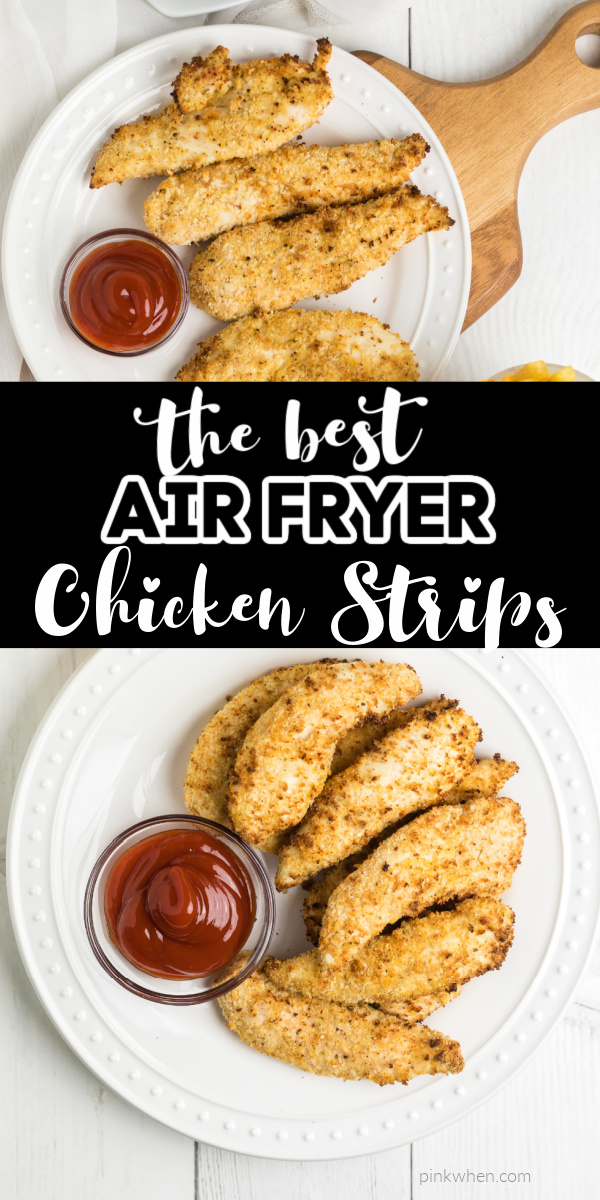 KID APPROVED! These Chicken Strips made in the Air Fryer are seriously the BEST! Made with the perfect blend of seasonings, a delicious, crispy coating, and done in just under 10 minutes! Your whole family is going to go bananas over this tasty recipe, and you'll love how quickly everything comes together.