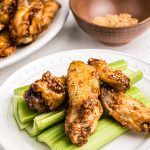 Honey Garlic Chicken Wings with sesame seeds.