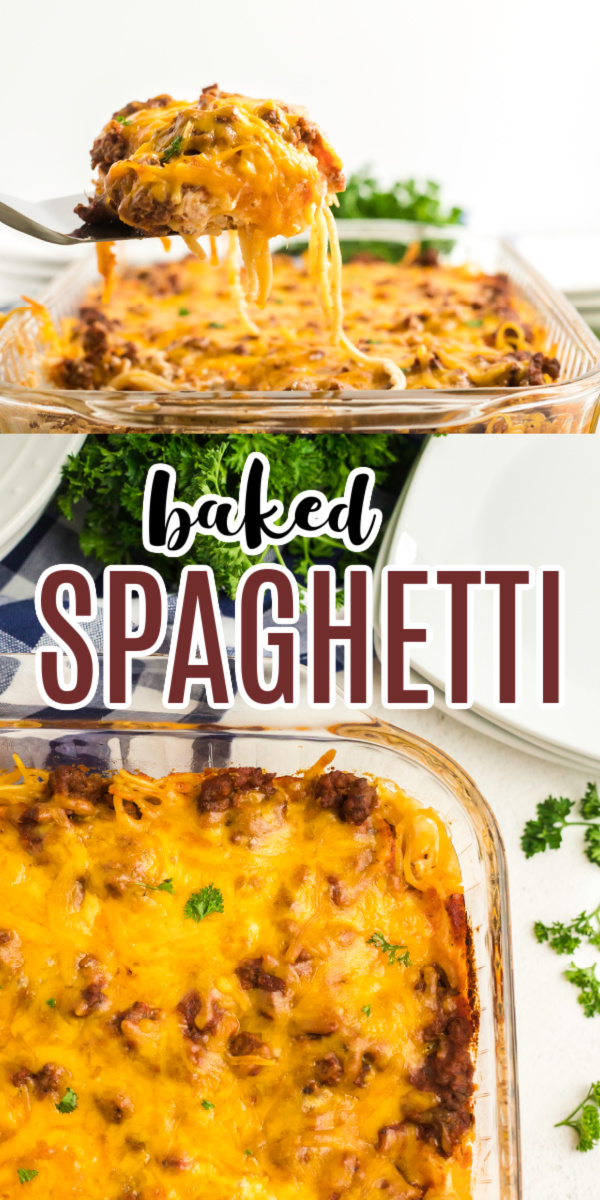 KID APPROVED!! This easy baked spaghetti is made with lean ground beef, noodles, cheese, seasonings, and more. It's an easy recipe the whole family will enjoy.