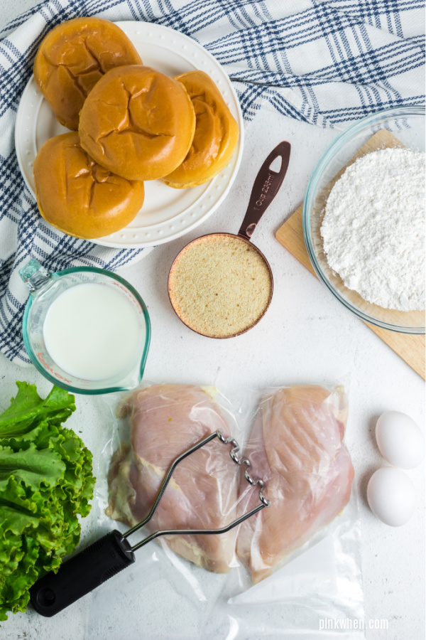 Pounded chicken breasts in a plastic baggie.