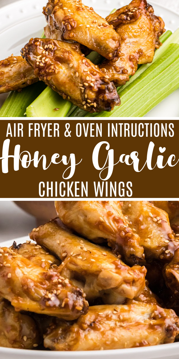 Honey Garlic Chicken Wings are so good we share how to make them TWO ways - both in the Air Fryer and the oven. Made with chicken, honey, garlic, and a special blend of seasonings that make these wings out of this world delicious. You won't know whether to make these as an easy appetizer or for a quick and easy meal. One thing's for certain, these need to be on your to-do list.