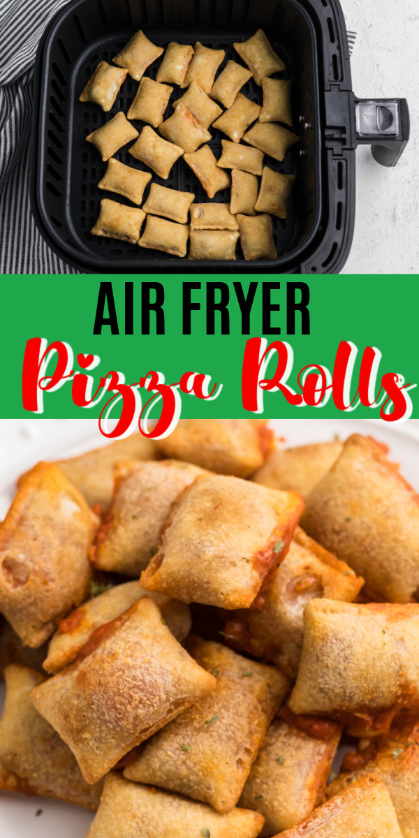 These easy Air Fryer Pizza Rolls are perfectly crispy on the outside and warm and delicious on the inside. All cooked and ready in just 6 minutes!