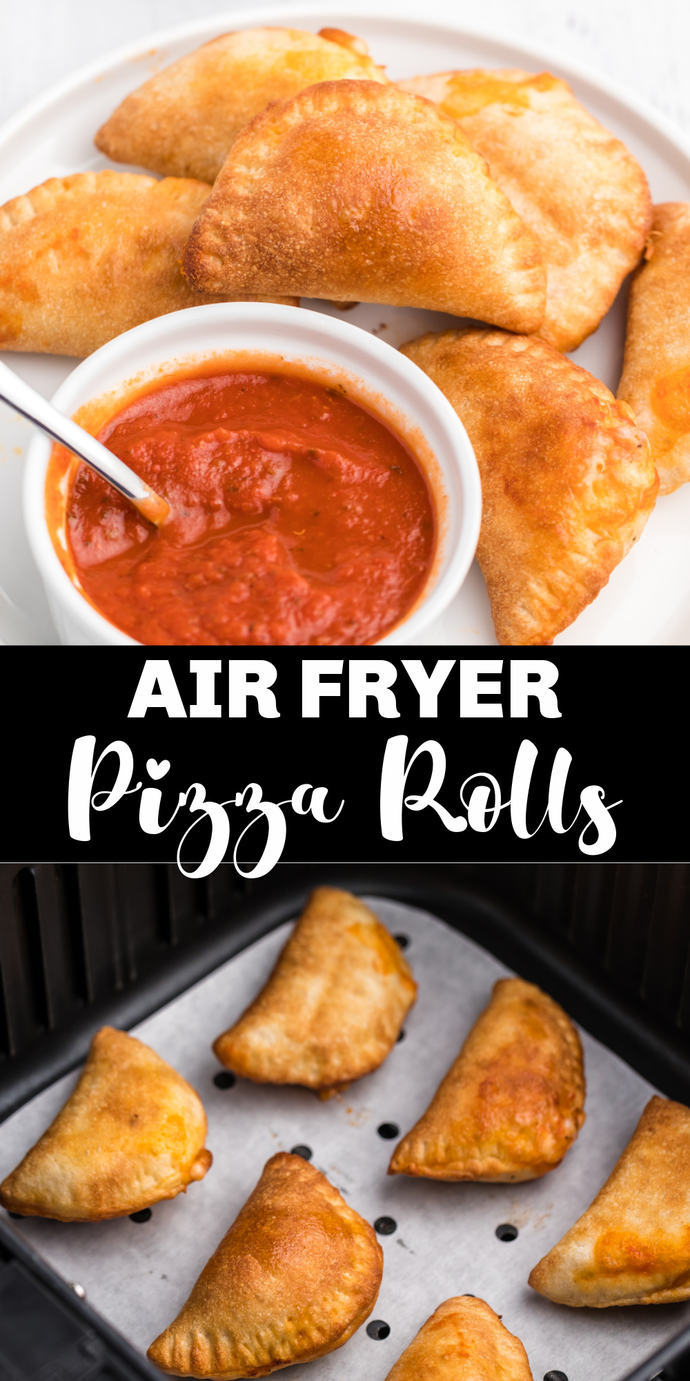 These easy Air Fryer Pizza Rolls are perfectly crispy on the outside and warm and delicious on the inside. We share how to make delicious homemade pizza rolls, as well as how to cook them from frozen. All cooked and ready in just 6 minutes with the Air Fryer!