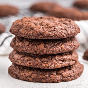 Brownie cookies made with a cake mix.