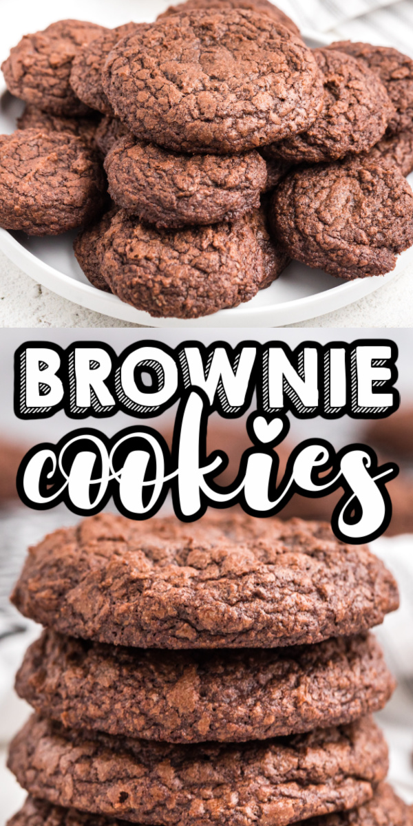 Delicious, thick, and chewy brownie mix cookies are made with your favorite brownie mix and only 3 additional ingredients! Warm and delicious brownie cookies are made in just 10 minutes.