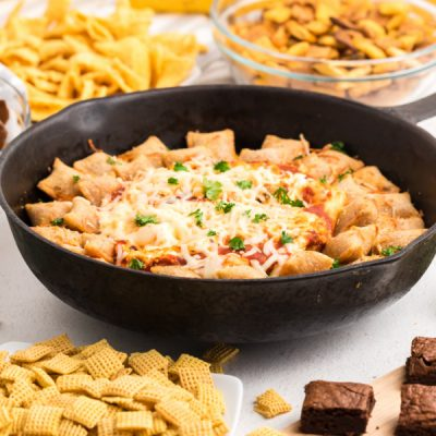 Game Day Pizza Roll Skillet Dip