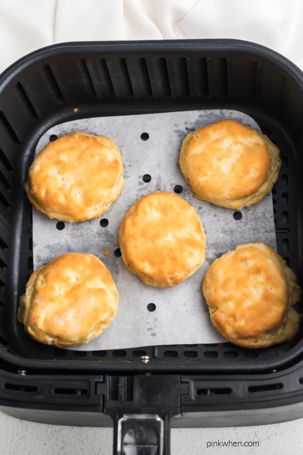 Biscuits fully cooked fresh in the Air Fryer.