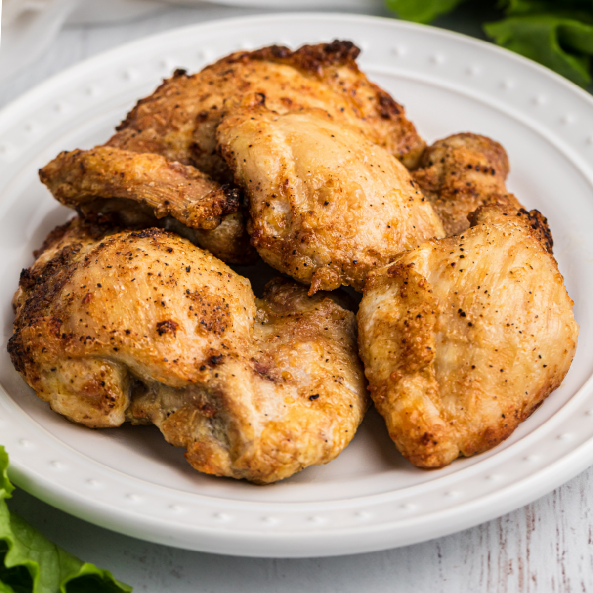 Perfect Air Fryer Chicken Thighs Pinkwhen