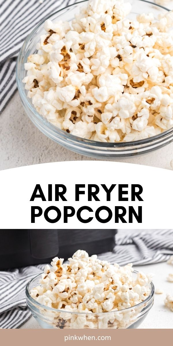 Air Fryer Popcorn is a delicious and easy recipe for a light and fluffy treat. You'll love how easy this homemade popcorn is in an air fryer.