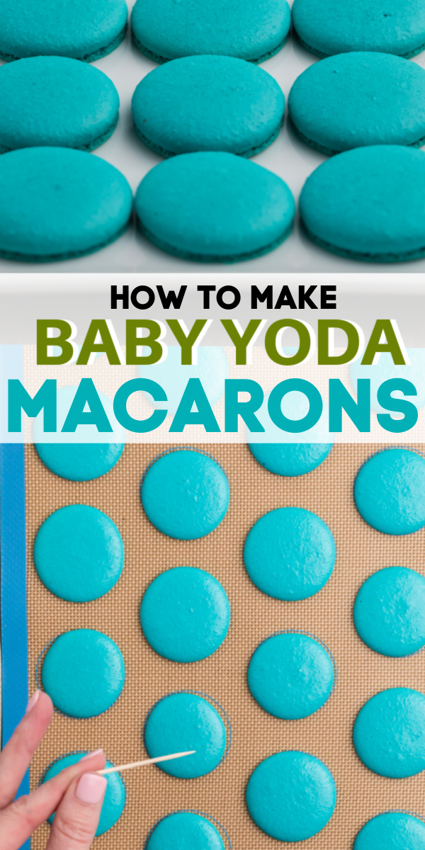 This Baby Yoda Macaron Cookie recipe is the best and most authentic recipe you will find. Make the perfect little stolen blue baby macarons with only a handful of ingredients and all in just under an hour of time.