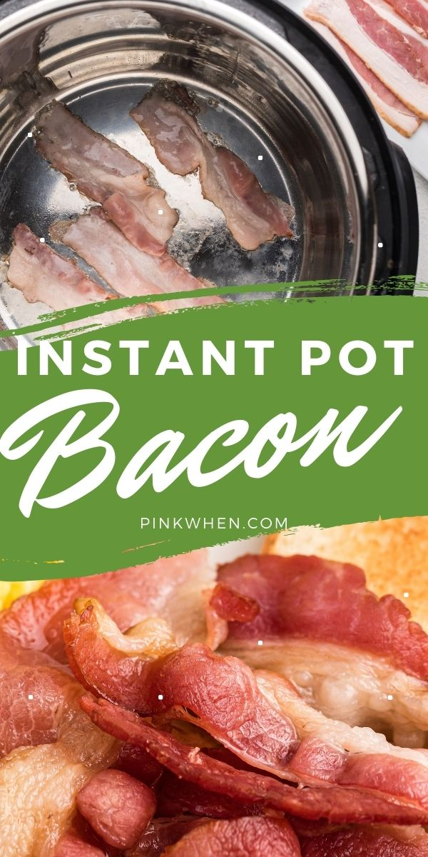 Instant Pot Bacon is a great way to make breakfast with less mess. In just a few simple steps you can have delicious bacon without all of the greasy mess on the stovetop.