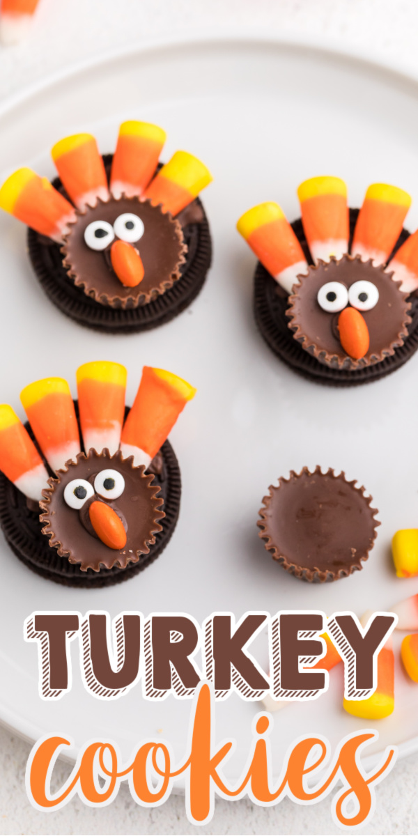 These no bake OREO Turkey Cookies are a fun and cute dessert to make over the holidays. Made with a few of our favorite candies, these little Turkeys come together fast and easy.