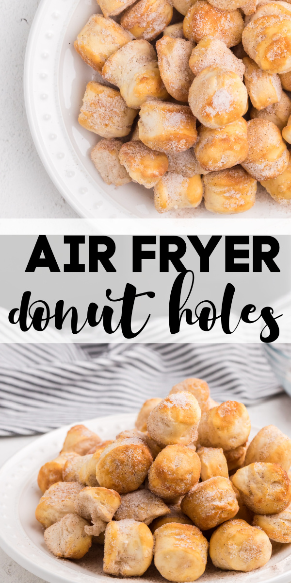 These easy Air Fryer Donut Holes are made in just minutes with refrigerated biscuit dough. No need to prep a dough, these can be made from start to finish in just a few quick and easy steps.