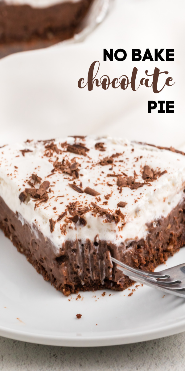 This No Bake Chocolate Pie is made with CocoWhip™, chocolate pudding, and a cookie crust for a dairy free dessert the whole family will love.