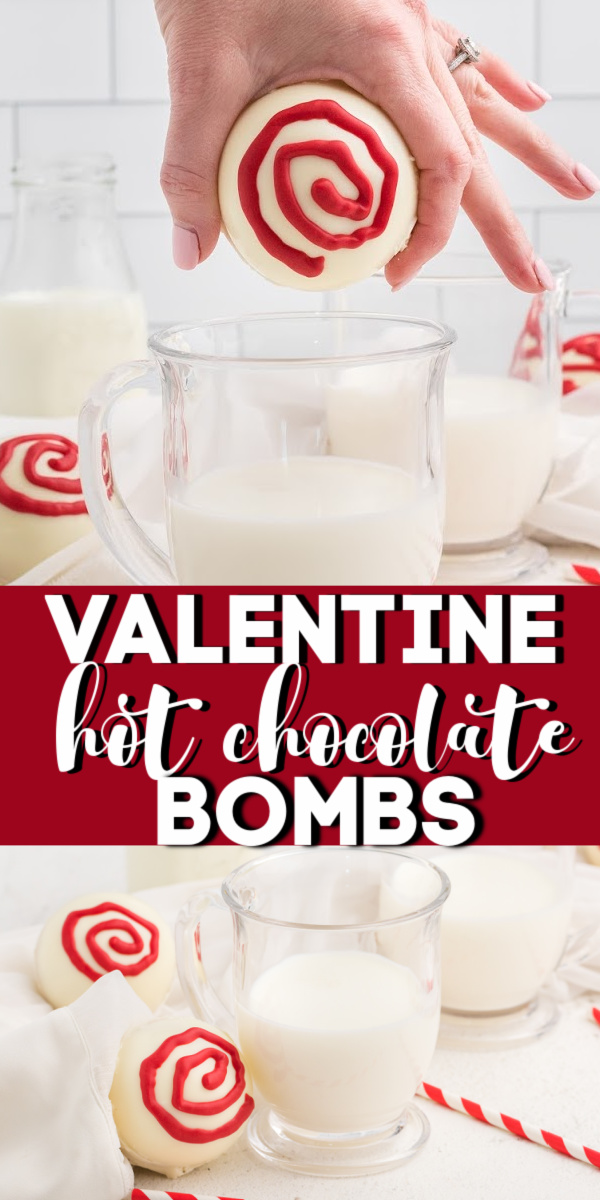 These Valentines Hot Chocolate Bombs are a fun and easy treat for your special Valentine. The perfect gift is made with chocolate chips, hot cocoa, mini marshmallows, and candy melts for garnish. A delicious and easy dessert!
