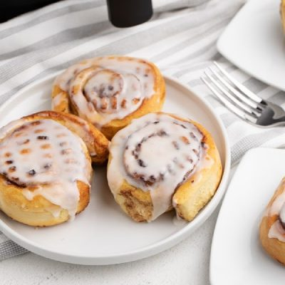 Cinnamon Rolls Made in the Air Fryer