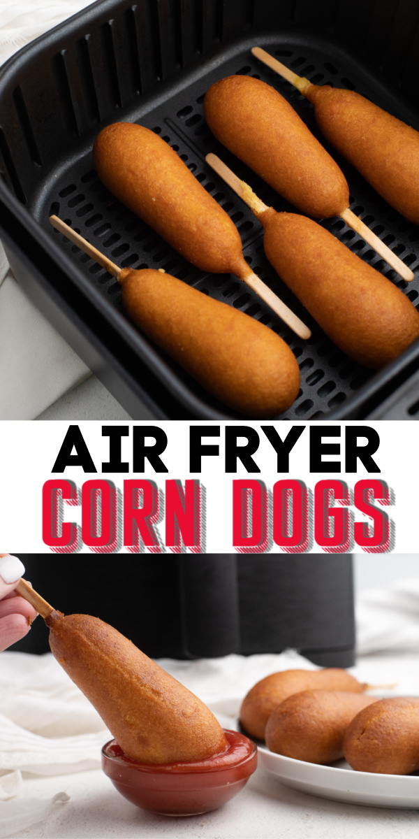 Air Fryer Corn Dogs are my new favorite way to make this classic recipe. Family-friendly, these frozen corn dogs are perfect straight out of the Air Fryer. No need to warm up the oven or to ruin the dogs in the microwave when you can cook them to perfection with an Air Fryer.