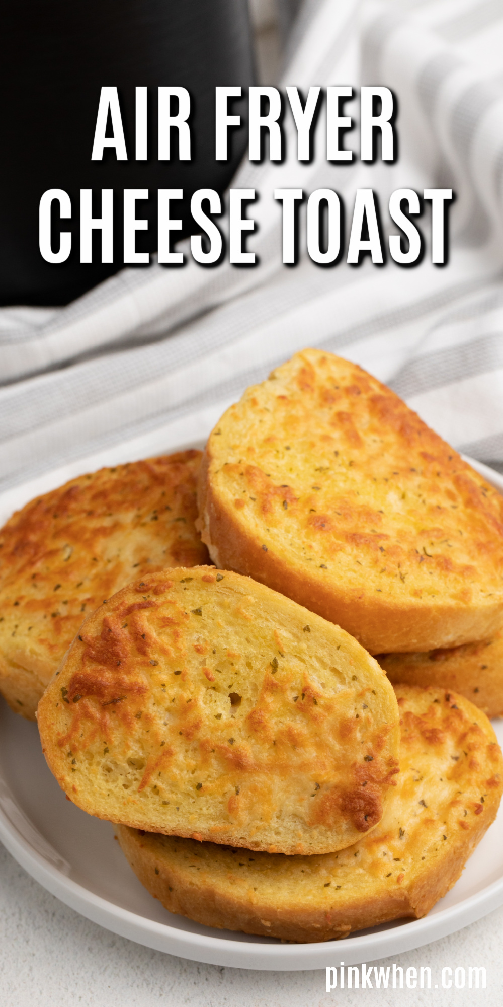 Air Fryer Texas Cheese Toast - Using the air fryer for this simple cheese toast really brings out a level of crunch that just can't happen with any other cooking method. You'll love this quick and easy air fryer recipe.