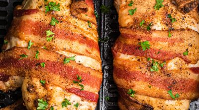 Bacon Wrapped Chicken in the Air Fryer