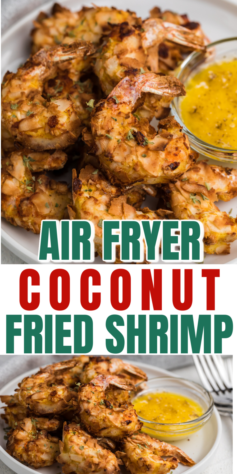 Air Fryer Coconut Shrimp is a keto-friendly fried shrimp recipe made with just a handful of ingredients in less than 20 minutes. You'll love how quick and easy this recipe is to make! It's an easy air fryer recipe the whole family will enjoy.