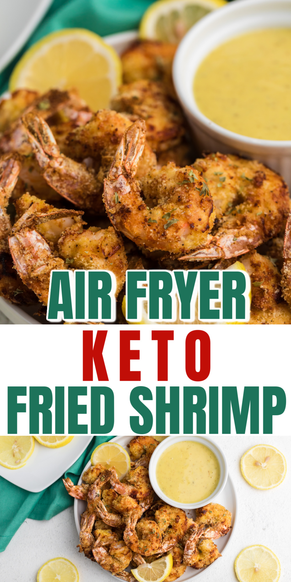 This easy recipe is the best way to use up fresh shrimp! I love this Air Fryer Keto Fried Shrimp recipe. It's one of my favorite keto air fryer recipes that gives me a great low carb appetizer to enjoy. Made with shrimp, almond flour, and the perfect blend of seasonings.