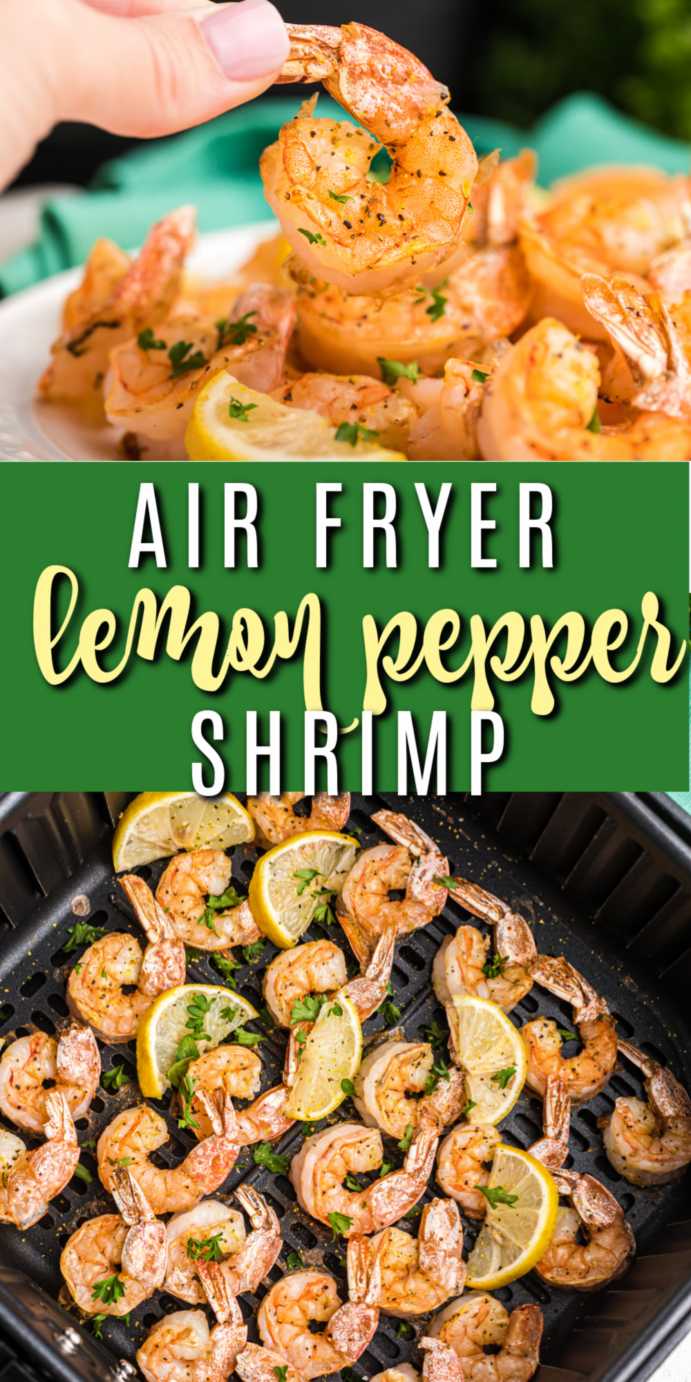 This lemon pepper air fryer shrimp recipe is one of my favorite healthy lunches and also makes the perfect delicious appetizer. You can use the shrimp over a bed of lettuce for a salad, or even in shrimp tacos. You can also eat them all by themselves! It's a light and low carb dish that's a personal favorite and made in just minutes.