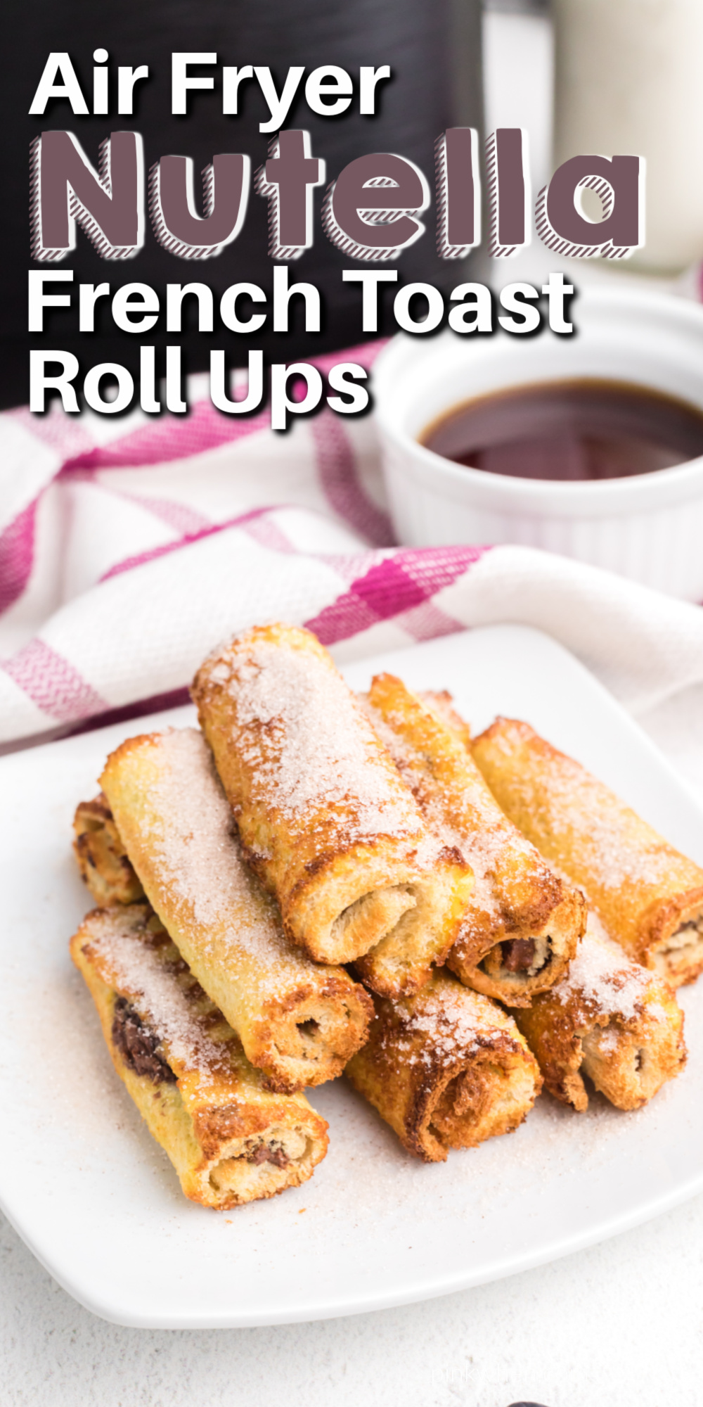 I love a good french toast recipe. There's just something about those golden brown slices of bread that the whole family loves. Air Fryer Nutella french toast roll-ups are one of my favorite breakfast recipes. Made with just 6 ingredients and done in less than 10 minutes!