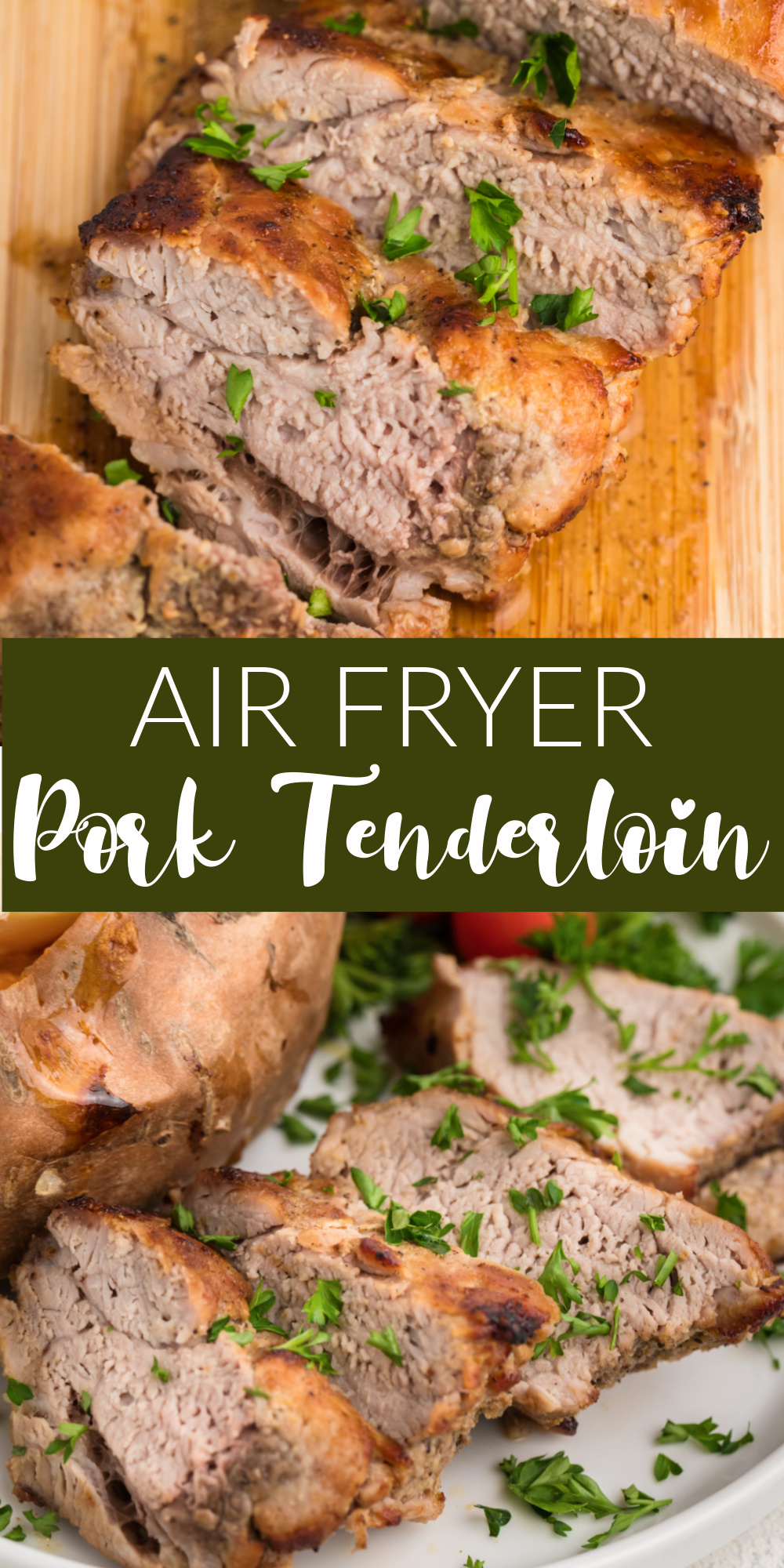 Air Fryer Pork Tenderloin is one of my favorite low carb dinner recipes. You can make this air fryer recipe from start to finish in just 20 minutes. You just need a handful of seasonings and a little olive oil for the easiest dinner, ever!