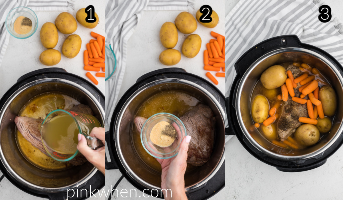Steps to make a tri tip roast in the Instant Pot