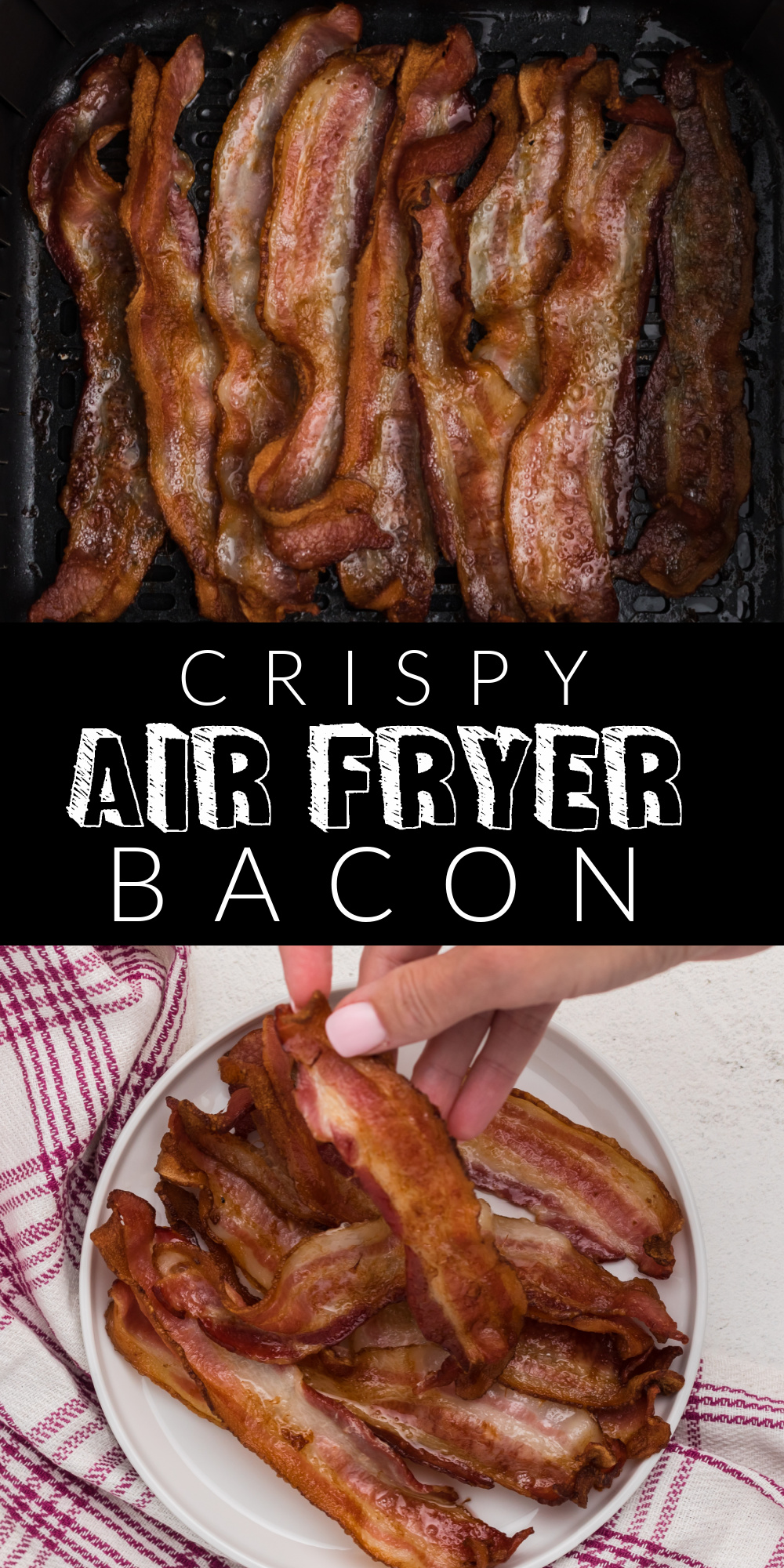 One of my new favorite ways to make crispy bacon is to make it in my Air Fryer. You'll enjoy delicious, perfect, bacon without the stress or the mess. Check out how easy it is to make Air Fryer Bacon.