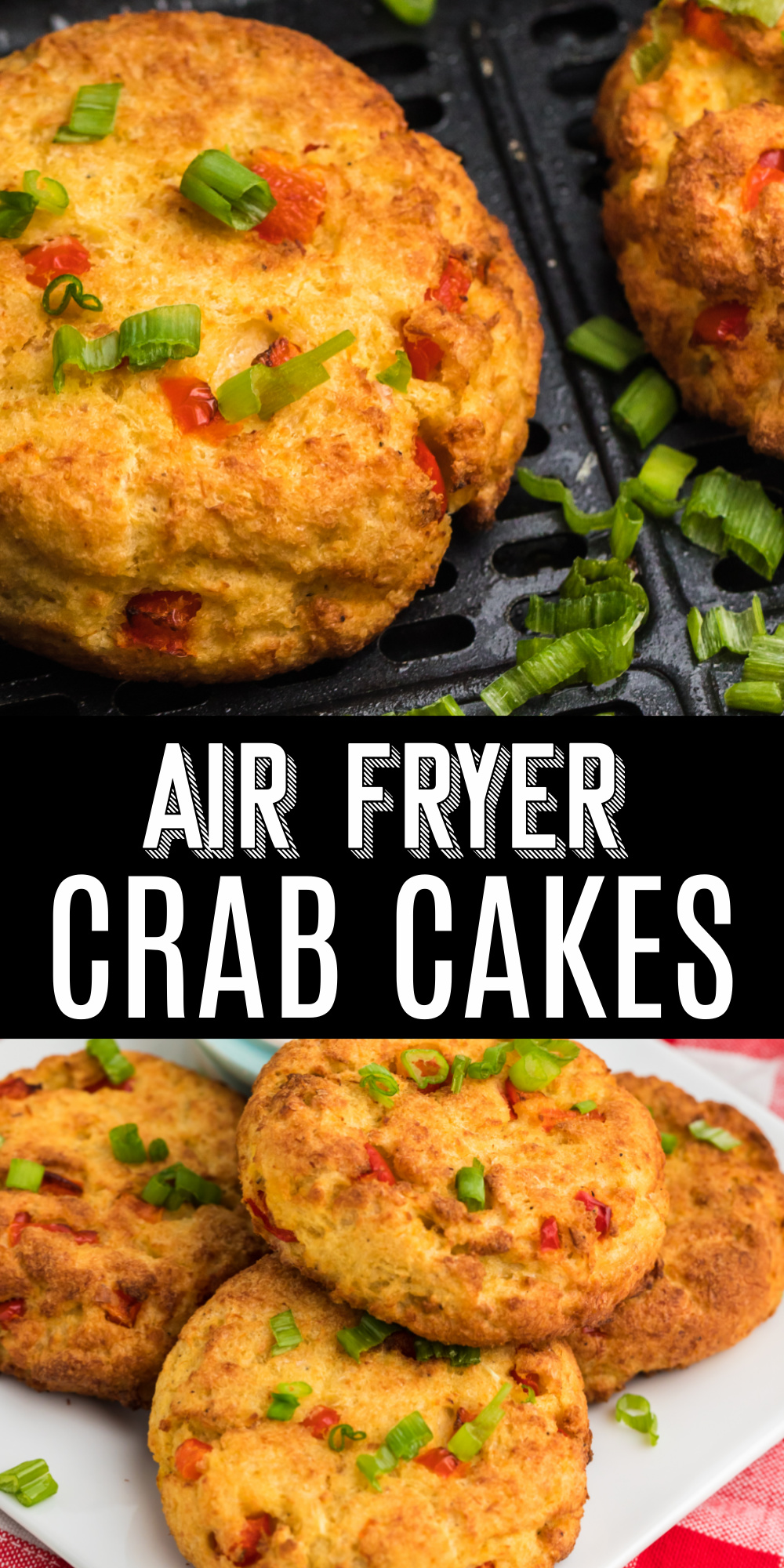 Looking for a simple appetizer any day of the week? These Air Fryer Crab Cakes are the best way to start off any meal! Made with jumbo lump crab meat, mayo, breadcrumbs, bell pepper, and more.