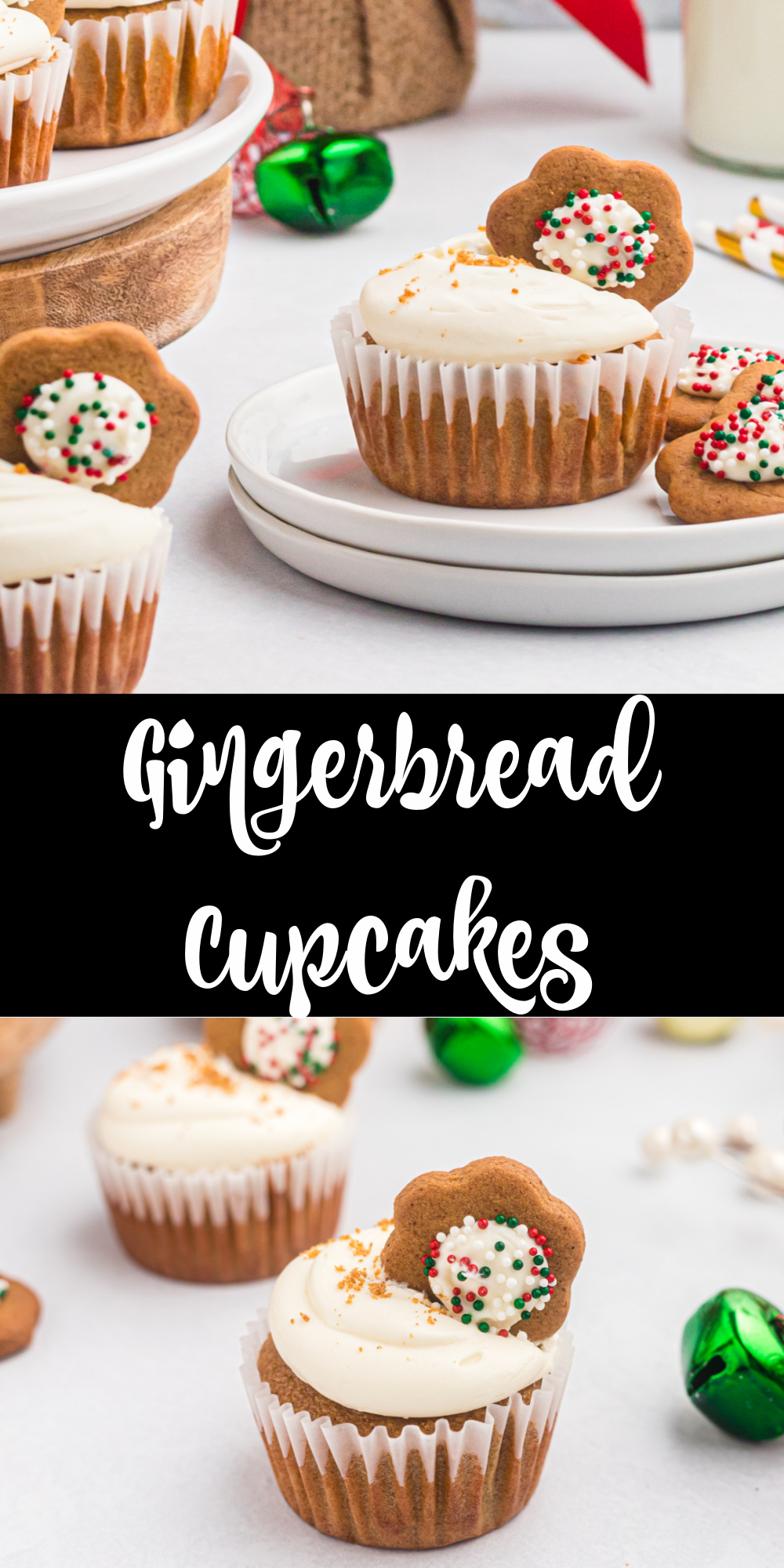 Do you love gingerbread cookies? If so you have to make these Gingerbread cupcakes for the holiday season! These just might be my favorite Christmas cupcakes full of warm spices. Perfect for holiday parties or an easy Christmas time dessert